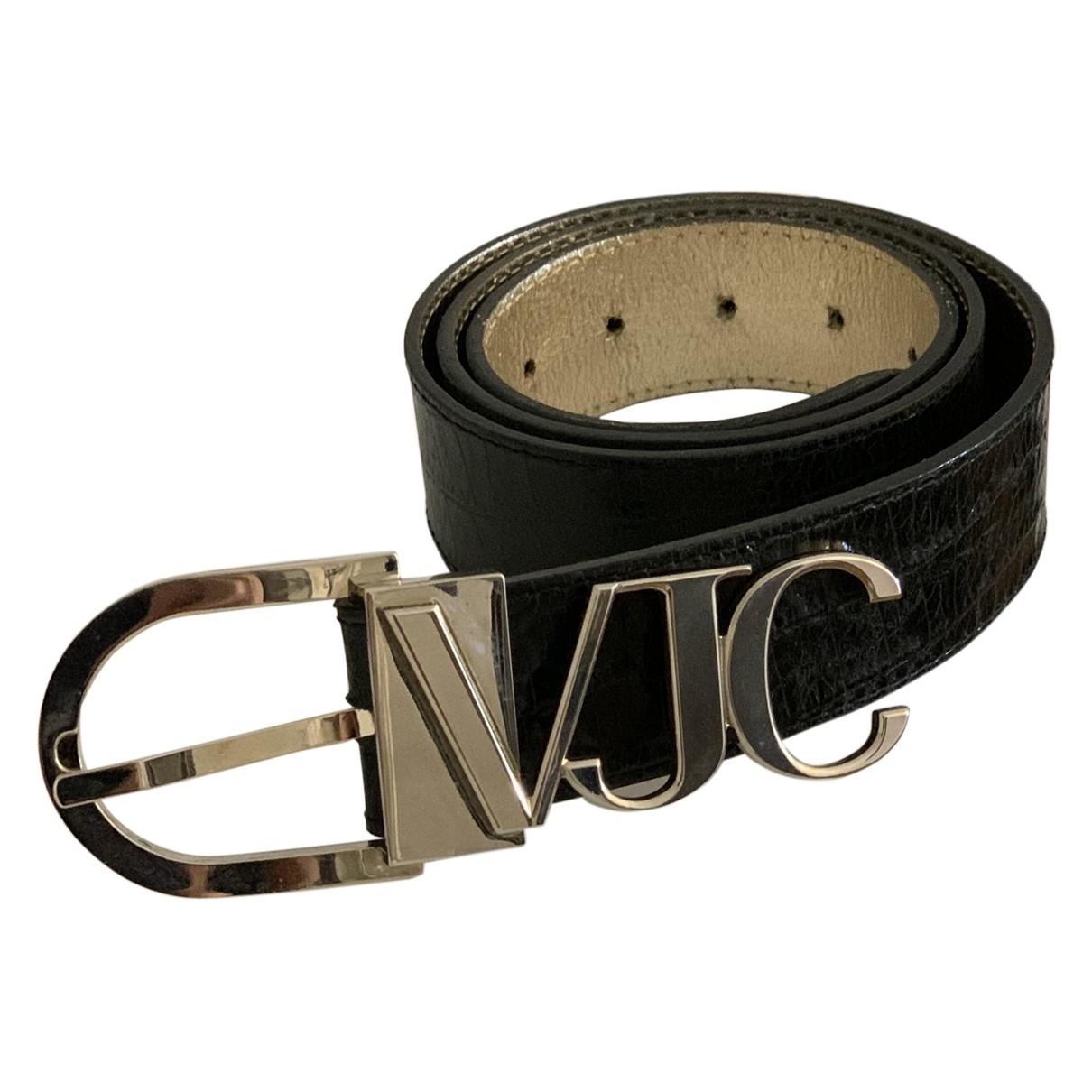 Versace Jeans \N Black Leather belt for Women 95 cm