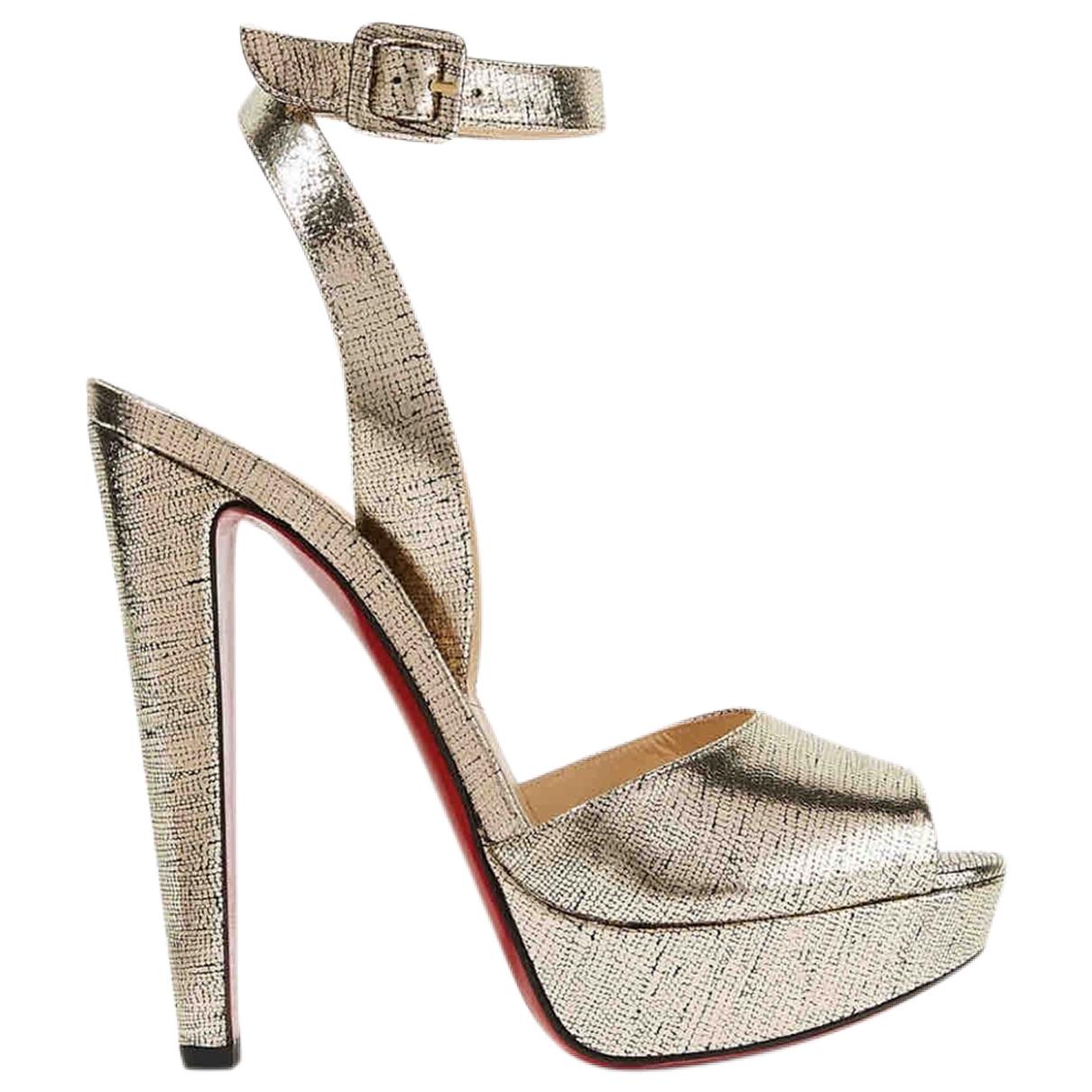 Christian Louboutin \N Metallic Leather Sandals for Women 37 EU