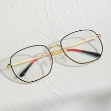 Men Polygon Frame Glasses
