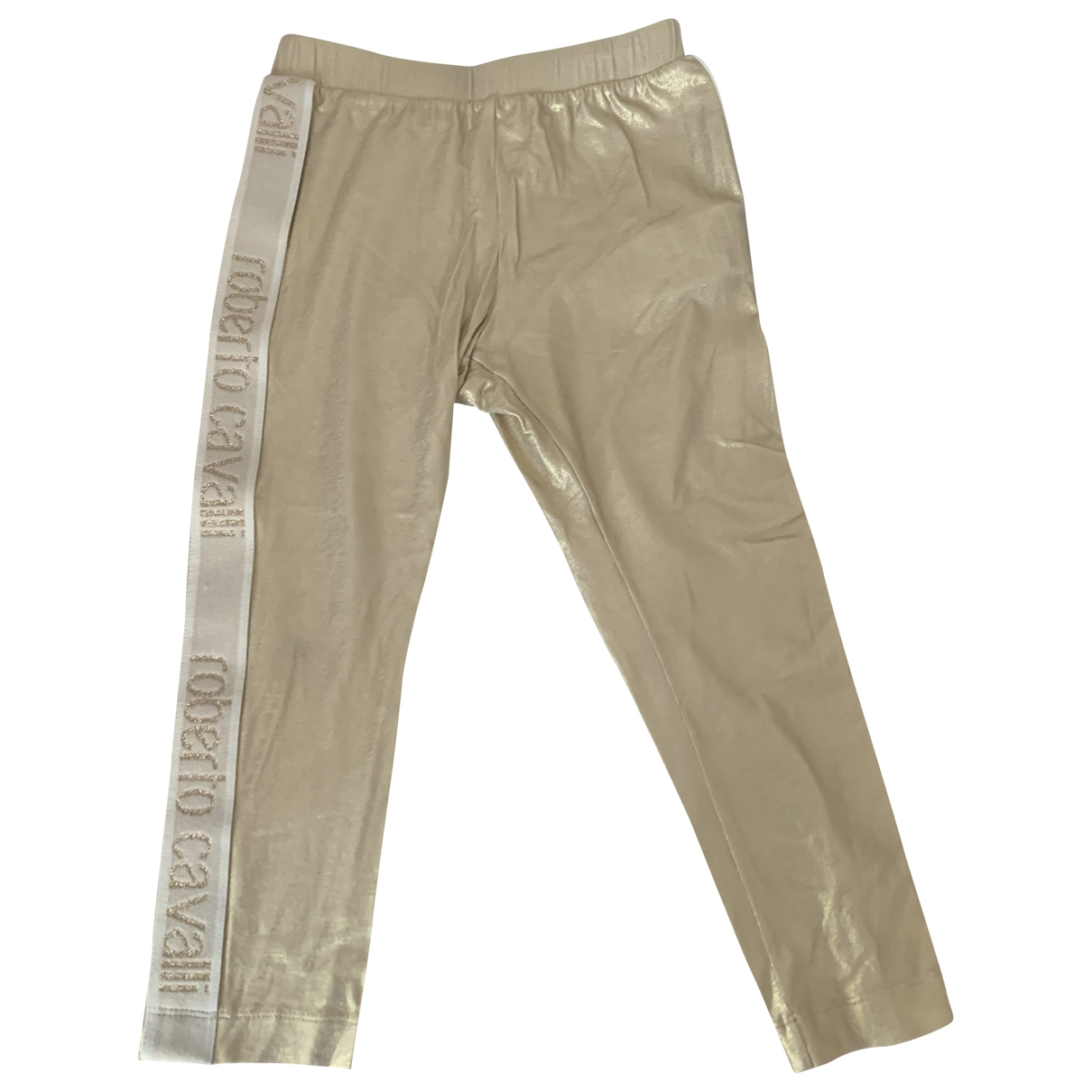 Roberto Cavalli - Pantalon   pour enfant en coton - metallise