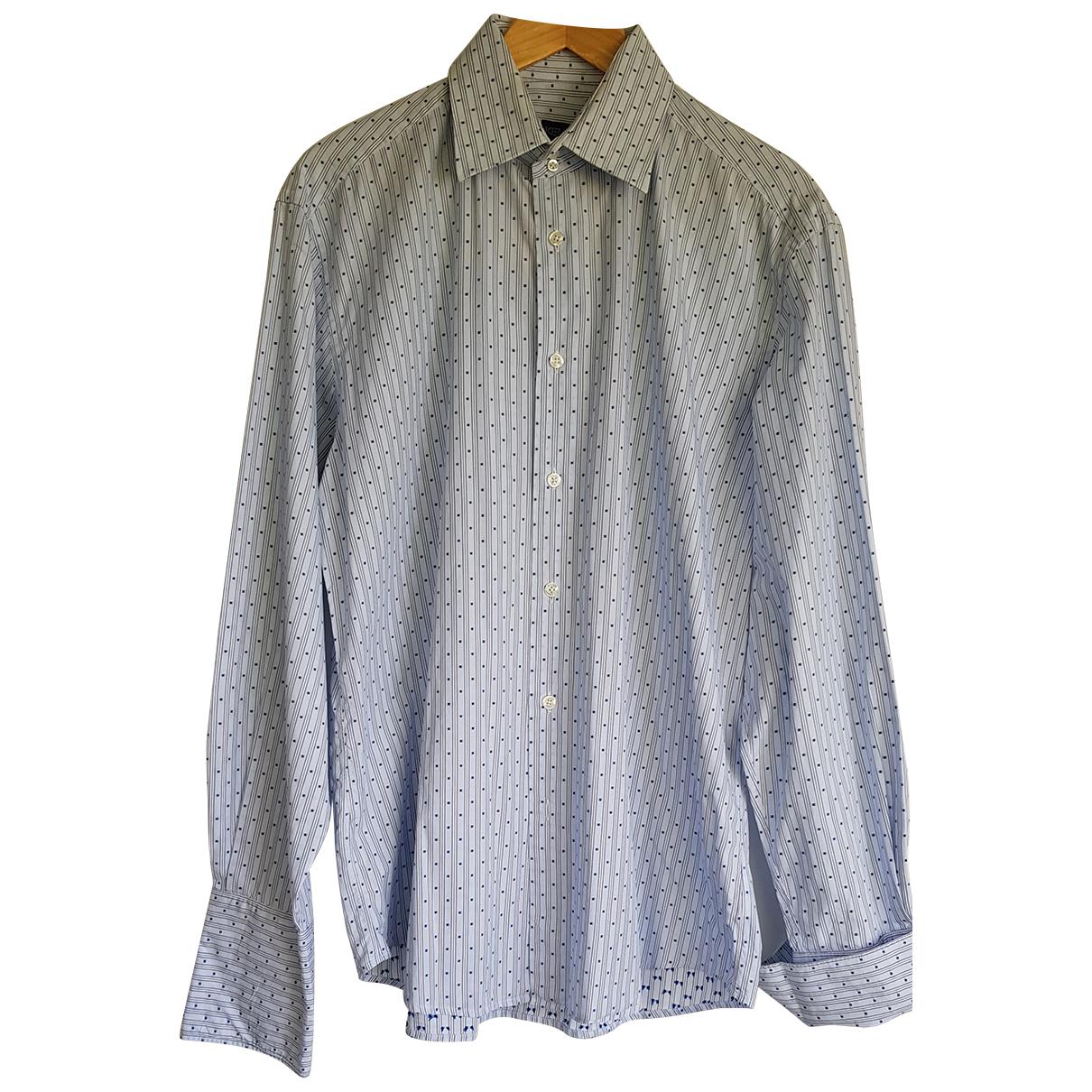 Kenzo - Chemises   pour homme en coton - bleu