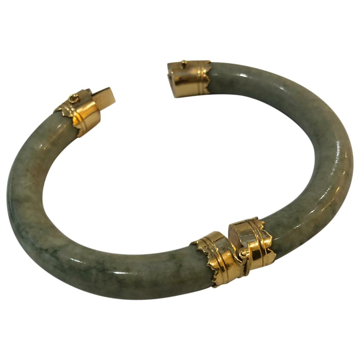 - Bracelet Jonc pour femme en jade - dore