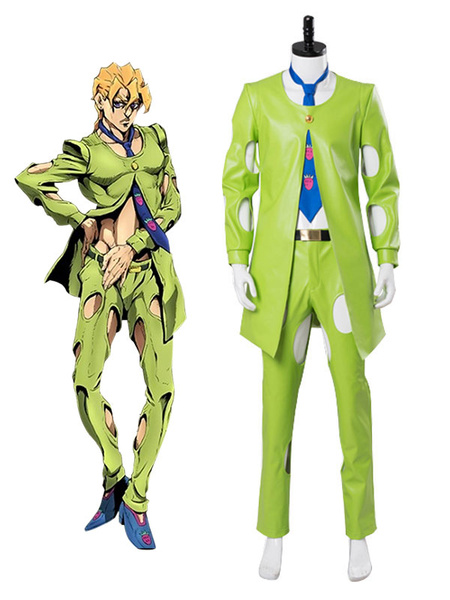 Milanoo JoJo's Bizarre Adventure Golden Wind Pannacotta Fugo Halloween Cosplay Costume