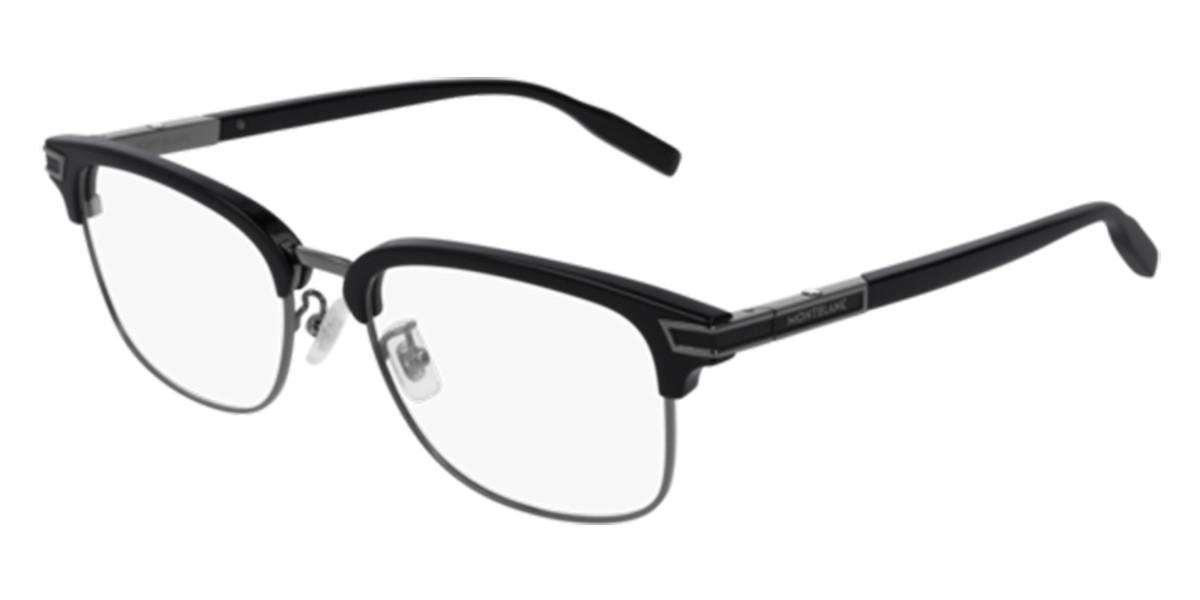 Mont Blanc MB0043O 005 Men's Glasses Black Size 55 - Free Lenses - HSA/FSA Insurance - Blue Light Block Available