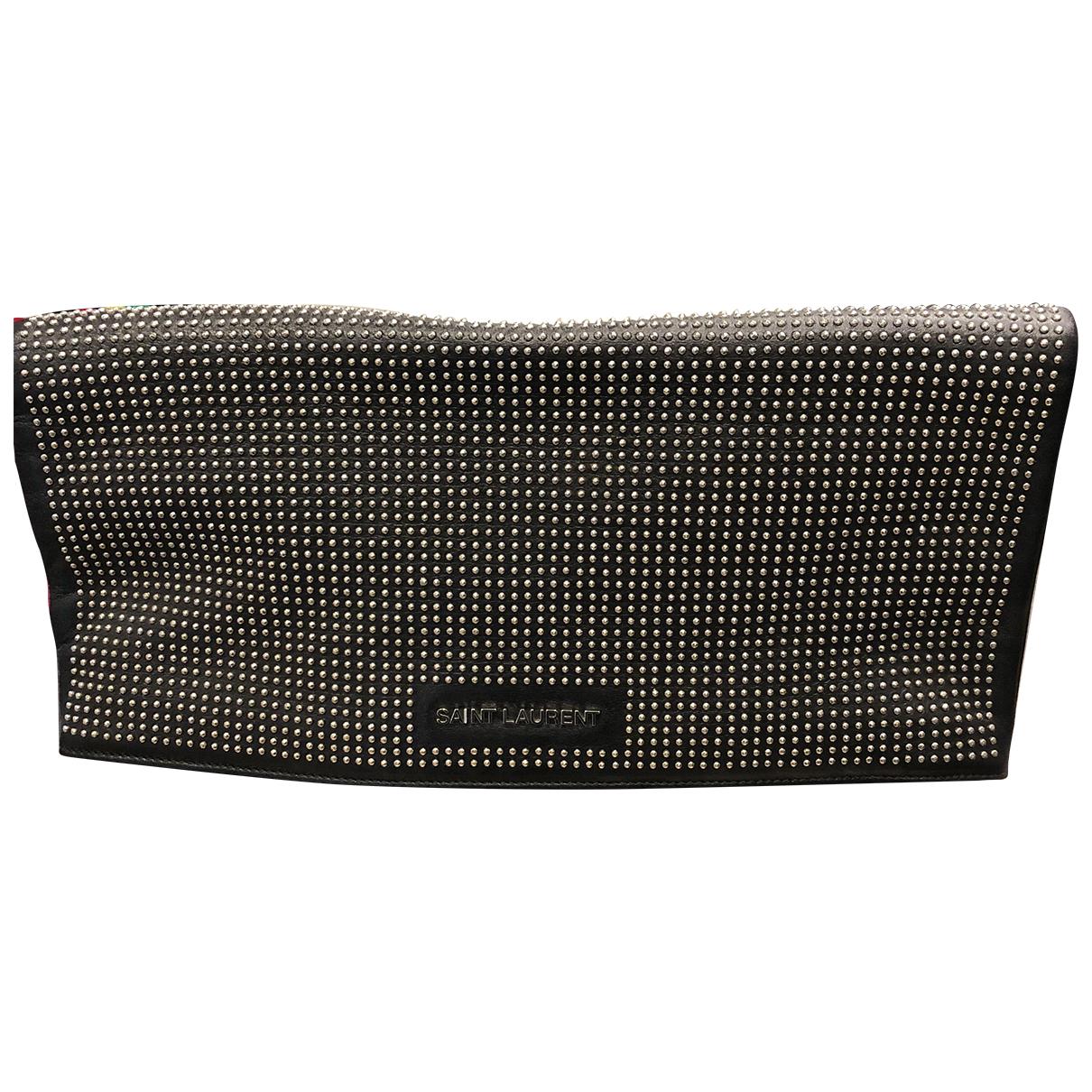 Saint Laurent N Black Leather Clutch bag for Women N