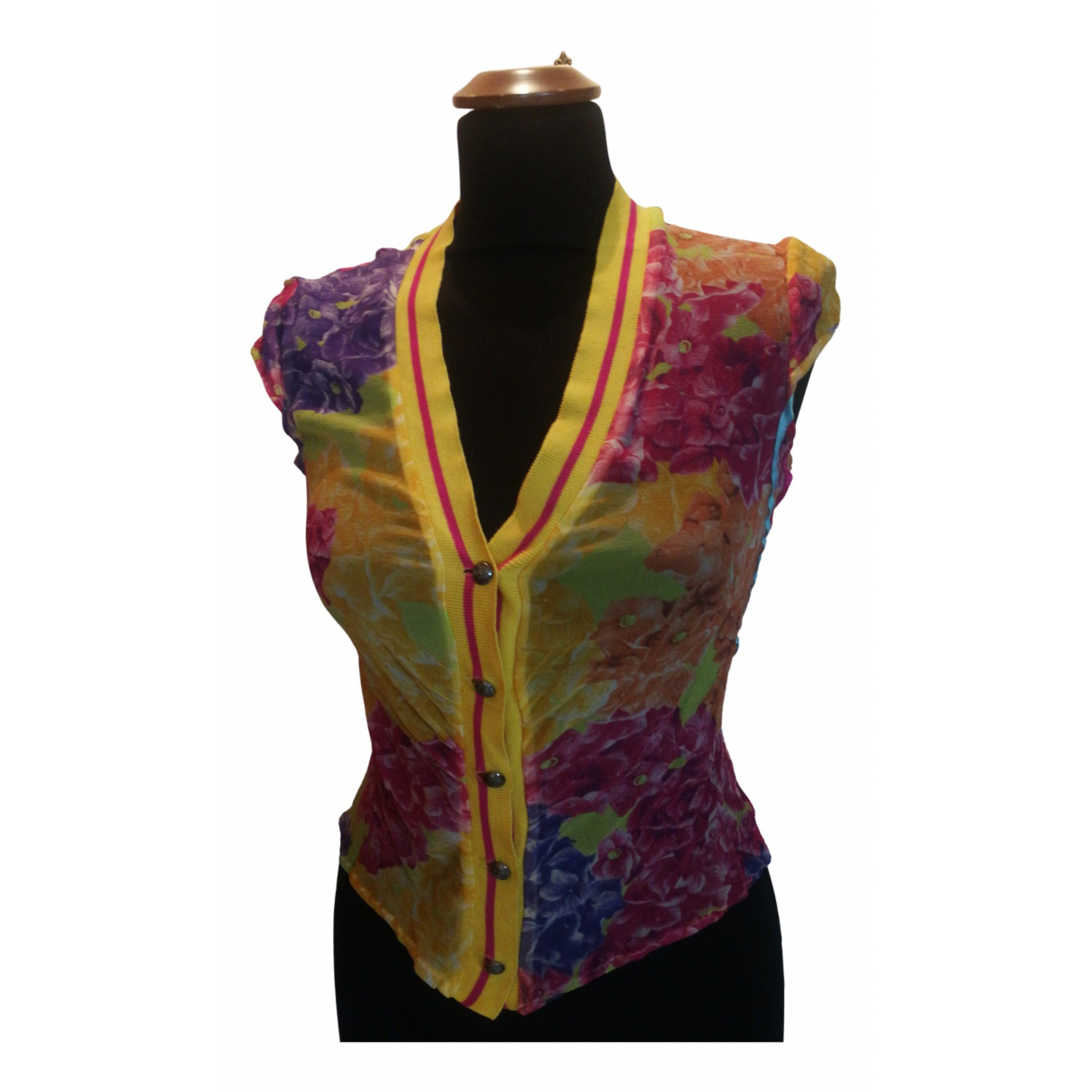 Versace Jeans \N Yellow Silk dress for Women 42 FR