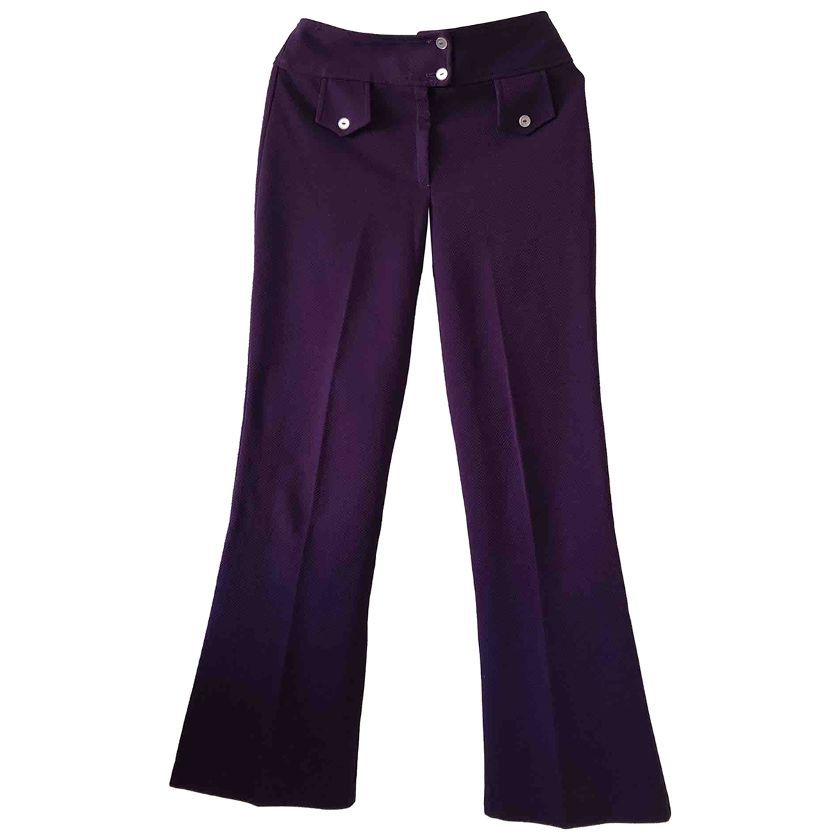 Non Signé / Unsigned Hippie Chic Purple Trousers for Women S International