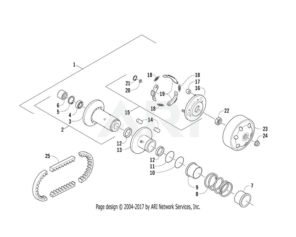 Arctic Cat OEM 3301-736 Drive Face Assembly (B) | (Inc. 2 22)
