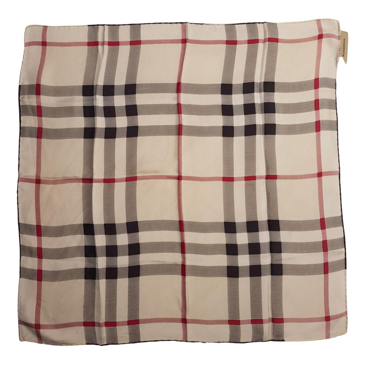 Burberry - Foulard   pour femme en soie - beige