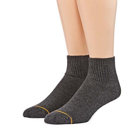 Gold Toe 2 Pair Non-Binding Quarter Socks - Mens, 10-13 , Black