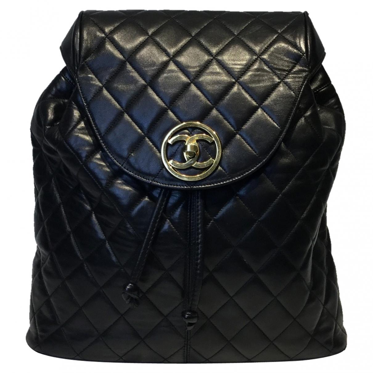 Chanel \N Rucksaecke in  Schwarz Leder