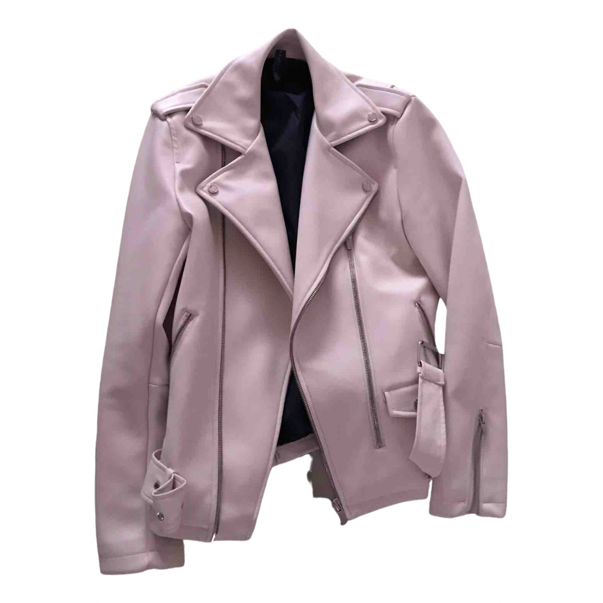 Zara - Vestes.Blousons   pour homme en cuir - beige
