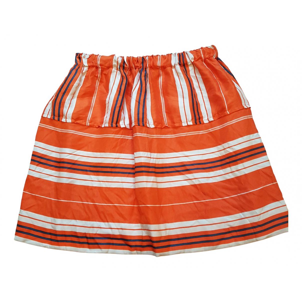 Louis Vuitton \N Rocke in  Orange Seide