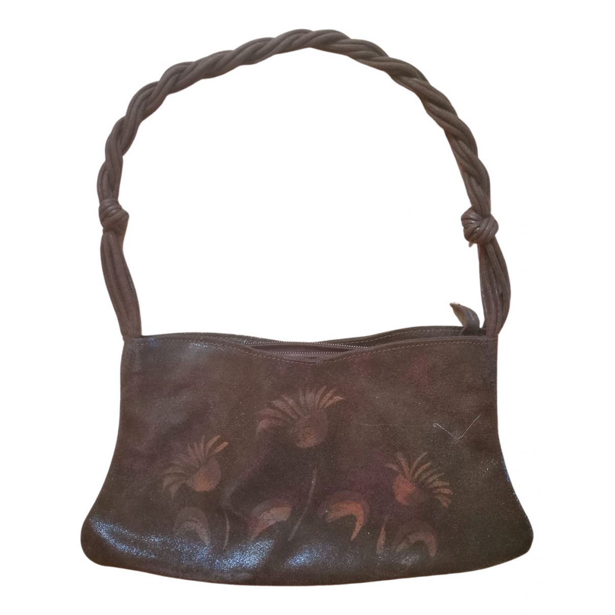 Non Signé / Unsigned N Brown Leather Clutch bag for Women N