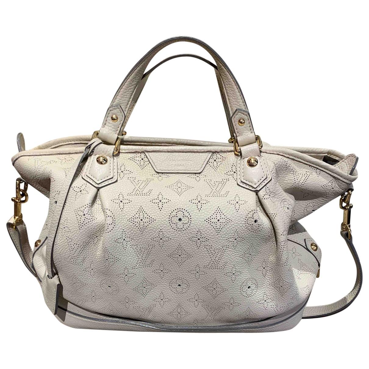 Louis Vuitton - Sac a main Mahina pour femme en cuir - blanc