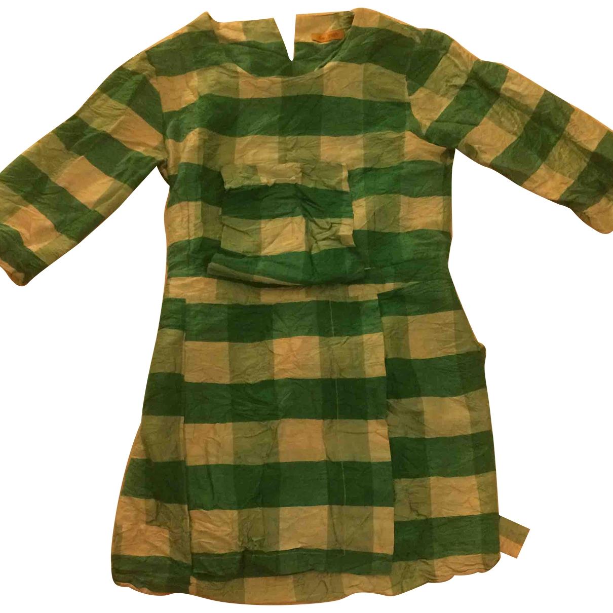 Peter Jensen - Robe   pour femme en soie - vert