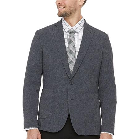 JF J.Ferrar Light & Cool Mens Regular Fit Sport Coat, 42 Long, Gray