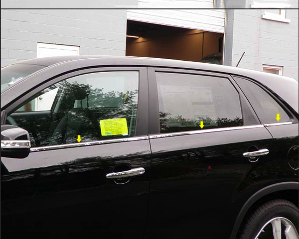 Quality Automotive Accessories 6-Piece Window Sill Trim Kia Sorento 2012