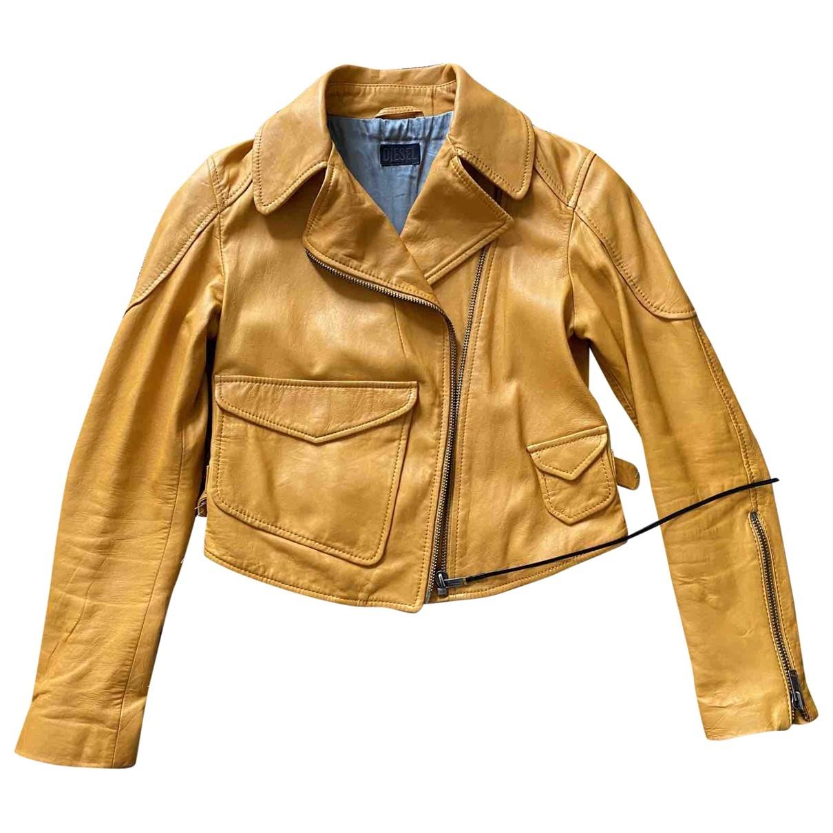 Diesel \N Leather Leather jacket for Women XS International
