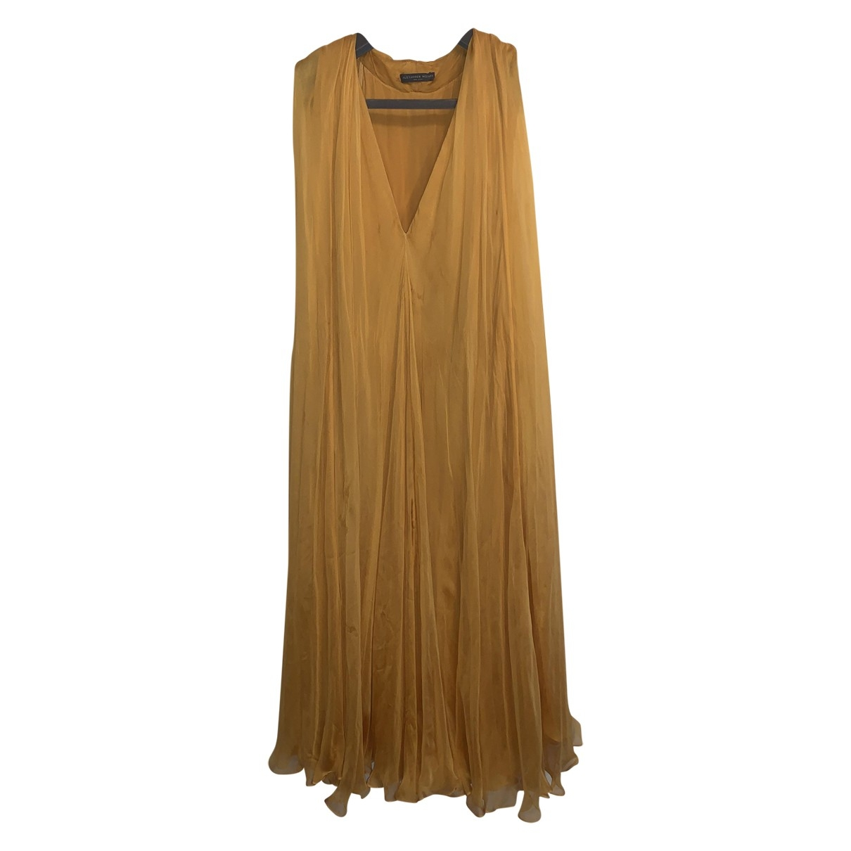 Alexander Mcqueen - Robe   pour femme en soie - jaune
