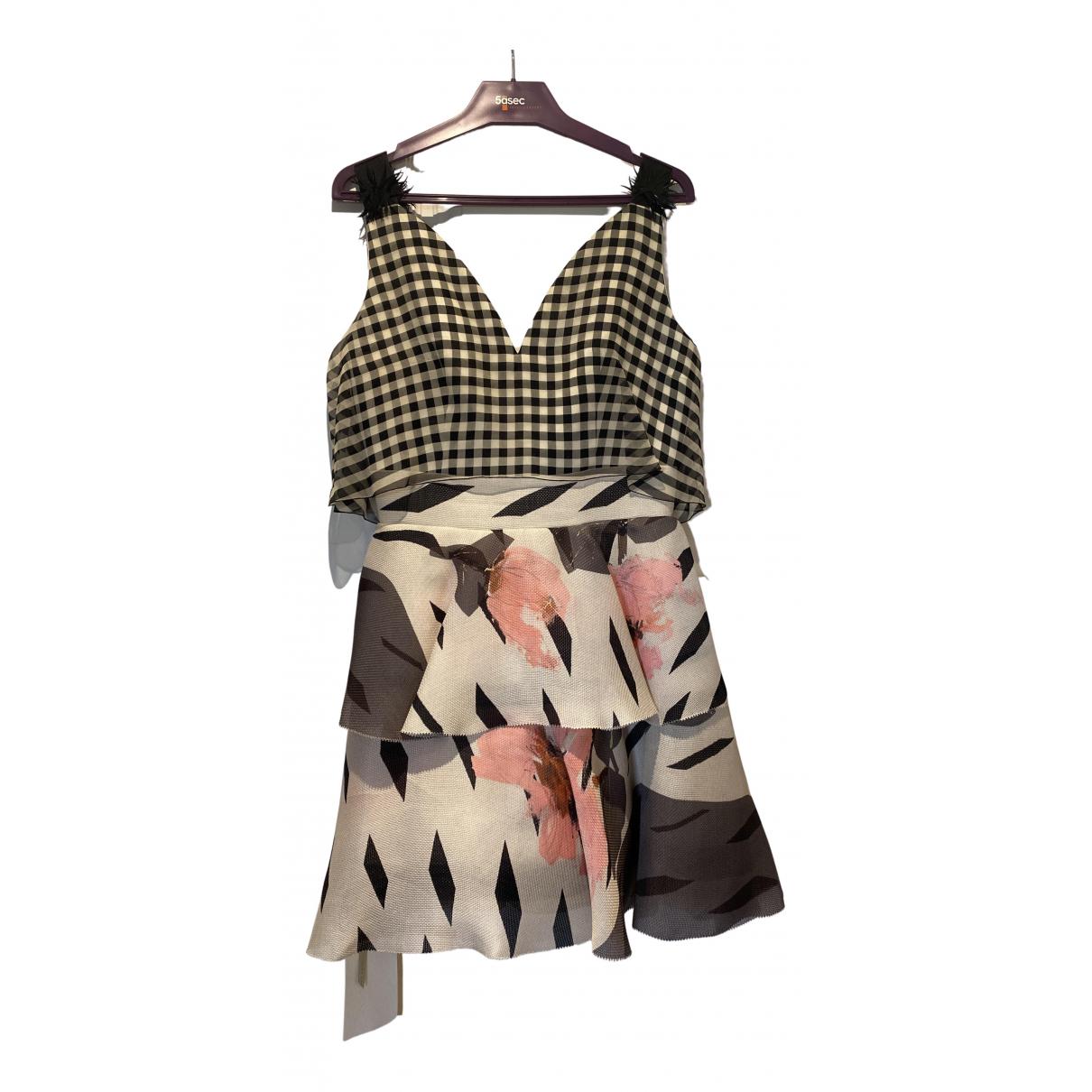 Delpozo \N Kleid in  Metallic Seide