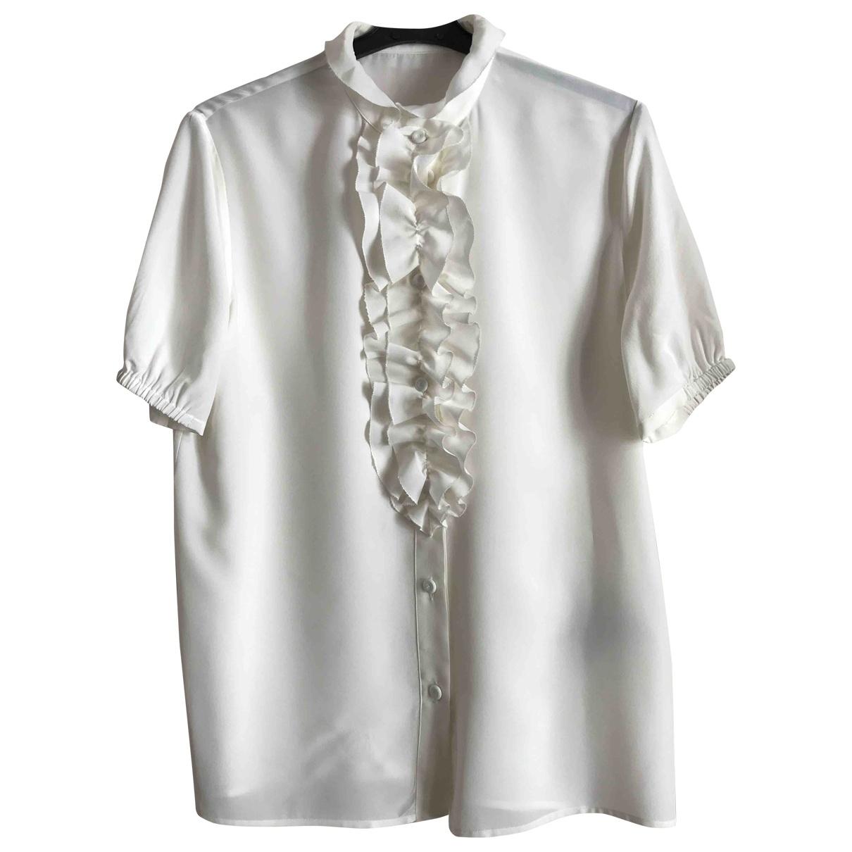 Bottega Veneta \N White Silk  top for Women 40 IT