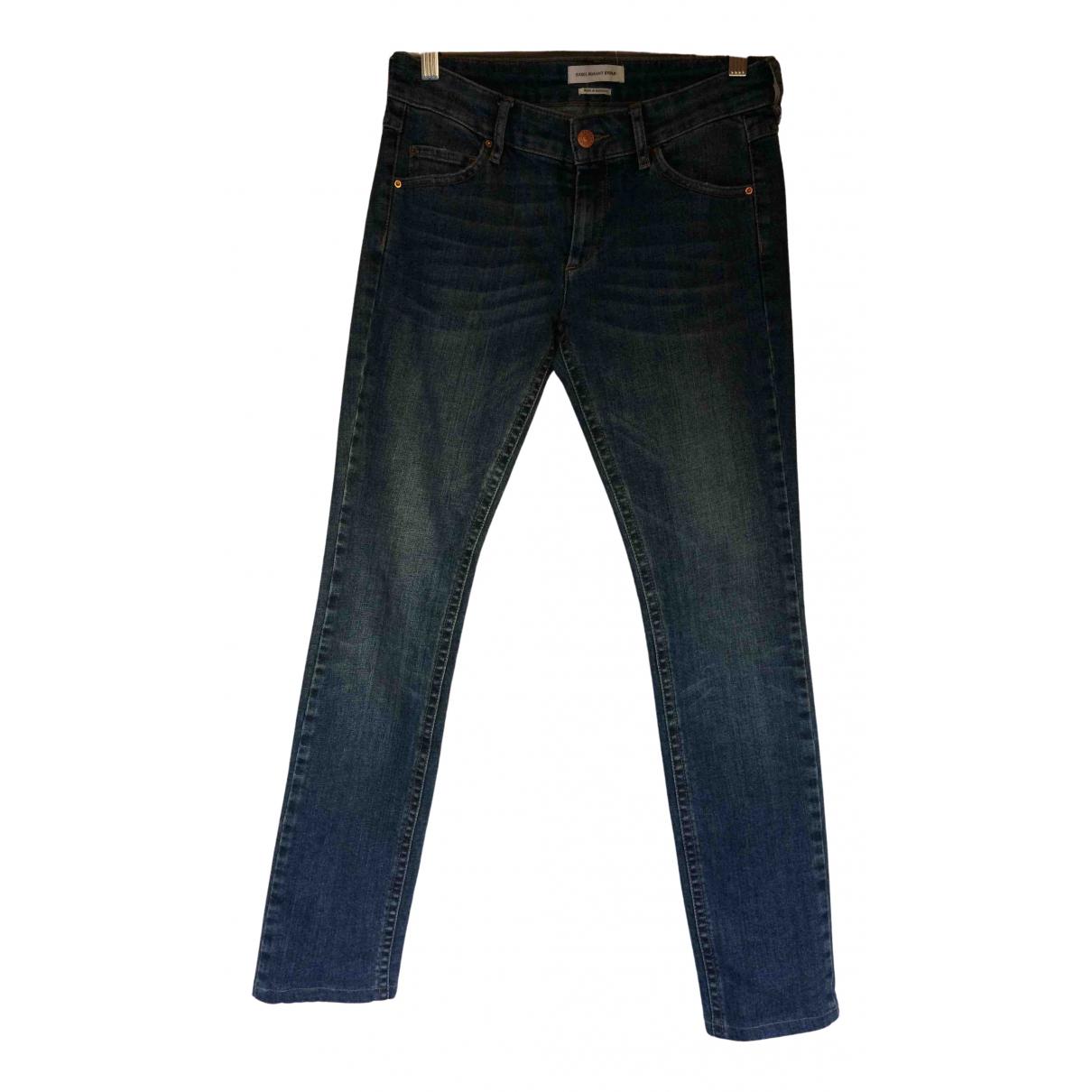 Isabel Marant Etoile \N Blue Cotton Trousers for Women 36 FR