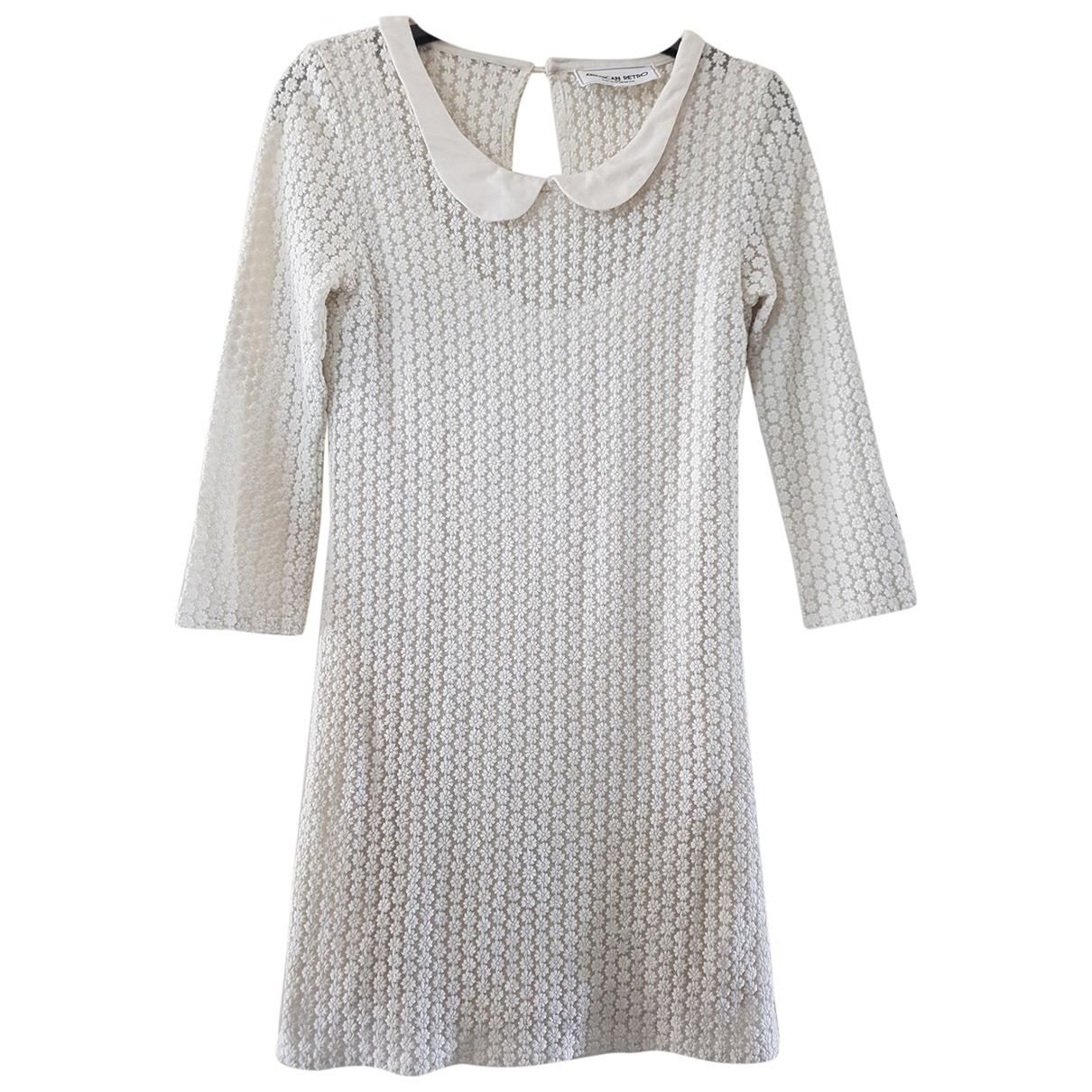 American Retro - Robe   pour femme en dentelle - ecru