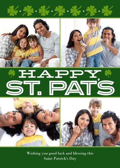 St. Patrick's Day Cards Flat Glossy Photo Paper Cards with Envelopes, 5x7, Card & Stationery -Happy St. Pats