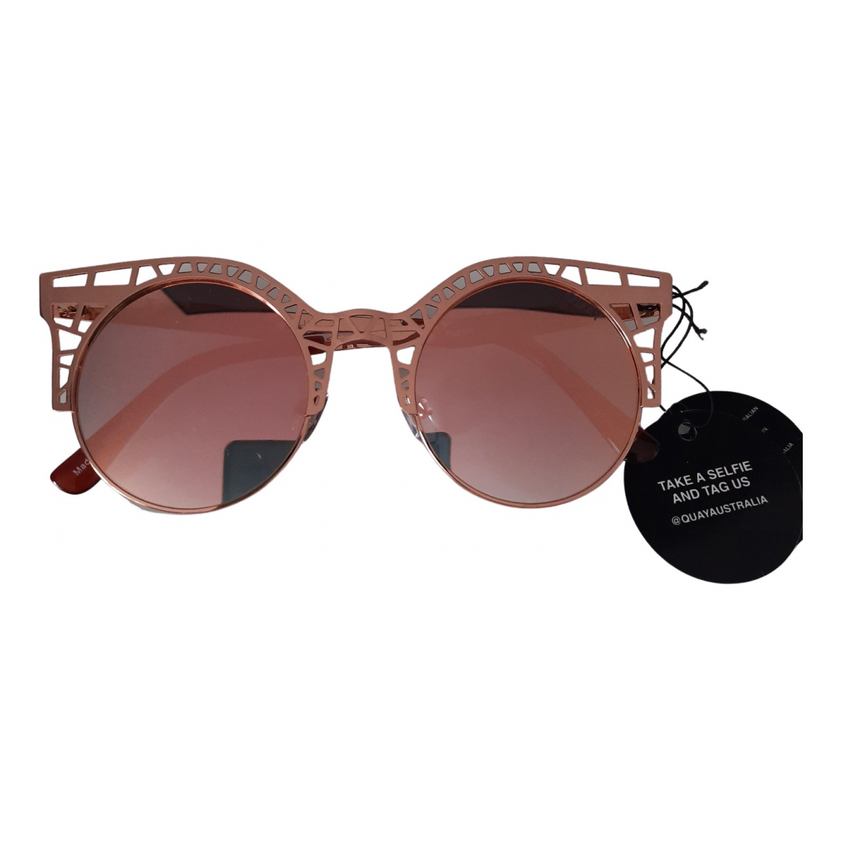 Quay N Pink Metal Sunglasses for Women N