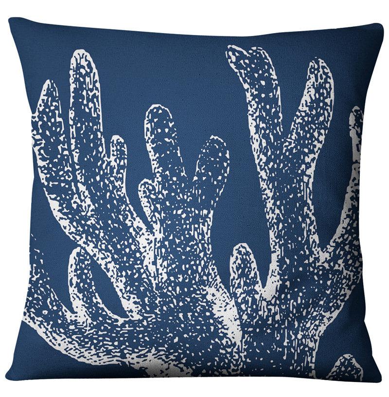 Compass American Ocean Style Linen Pillow Case Home Fabric Sofa Mediterranean Cushion Cover