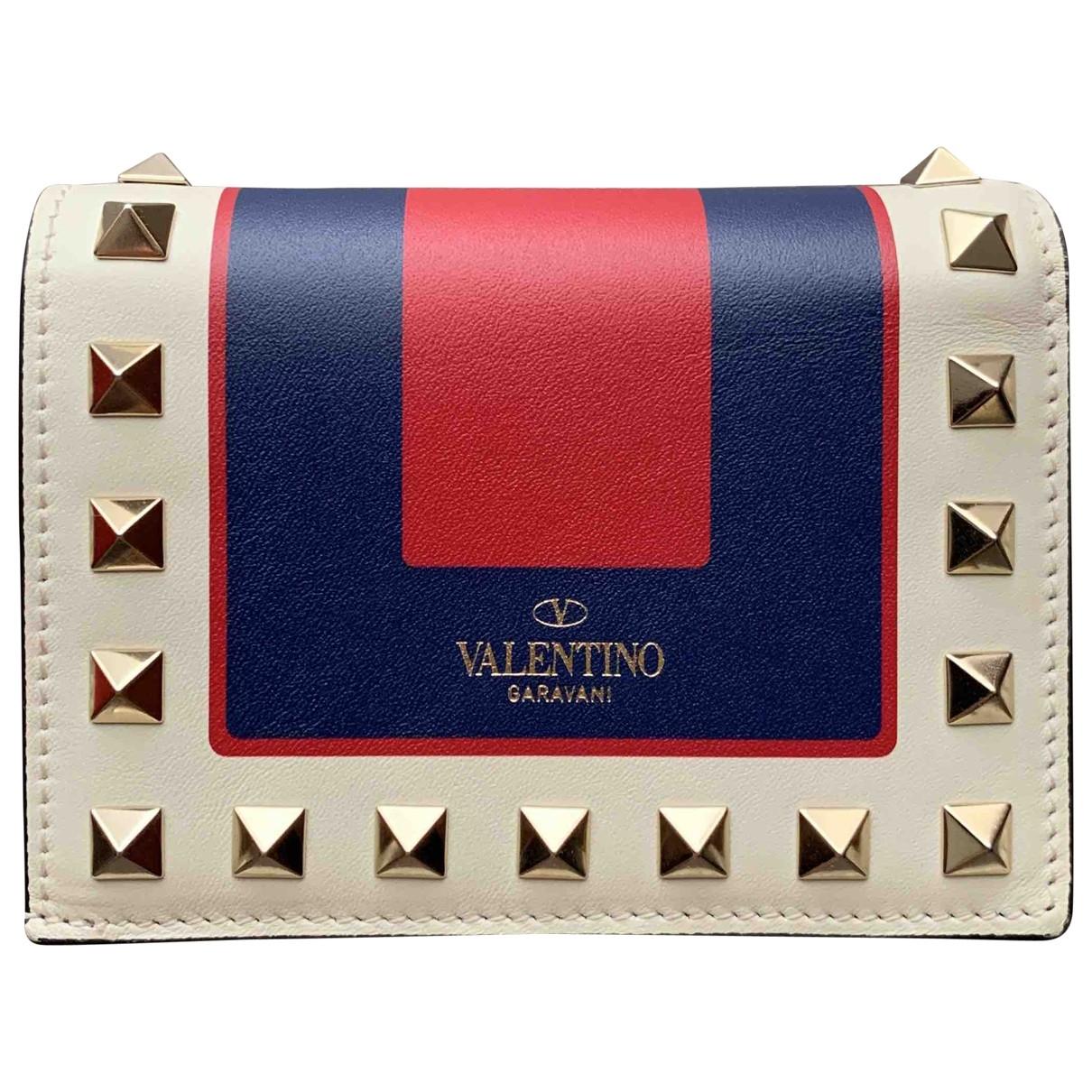Valentino Garavani - Portefeuille   pour femme en cuir - multicolore
