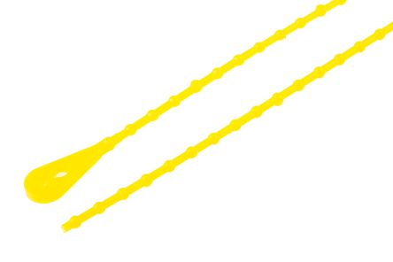 Richco , BT Series Yellow Polypropylene Releasable Cable Tie, 222.3mm x 2.4 mm (100)
