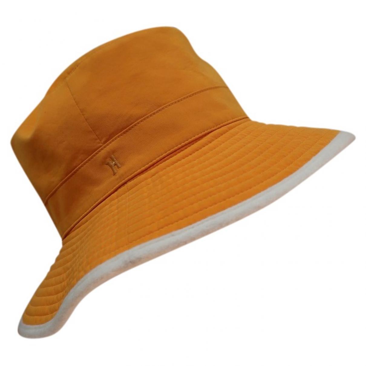 Hermes - Chapeau   pour femme en cachemire - orange