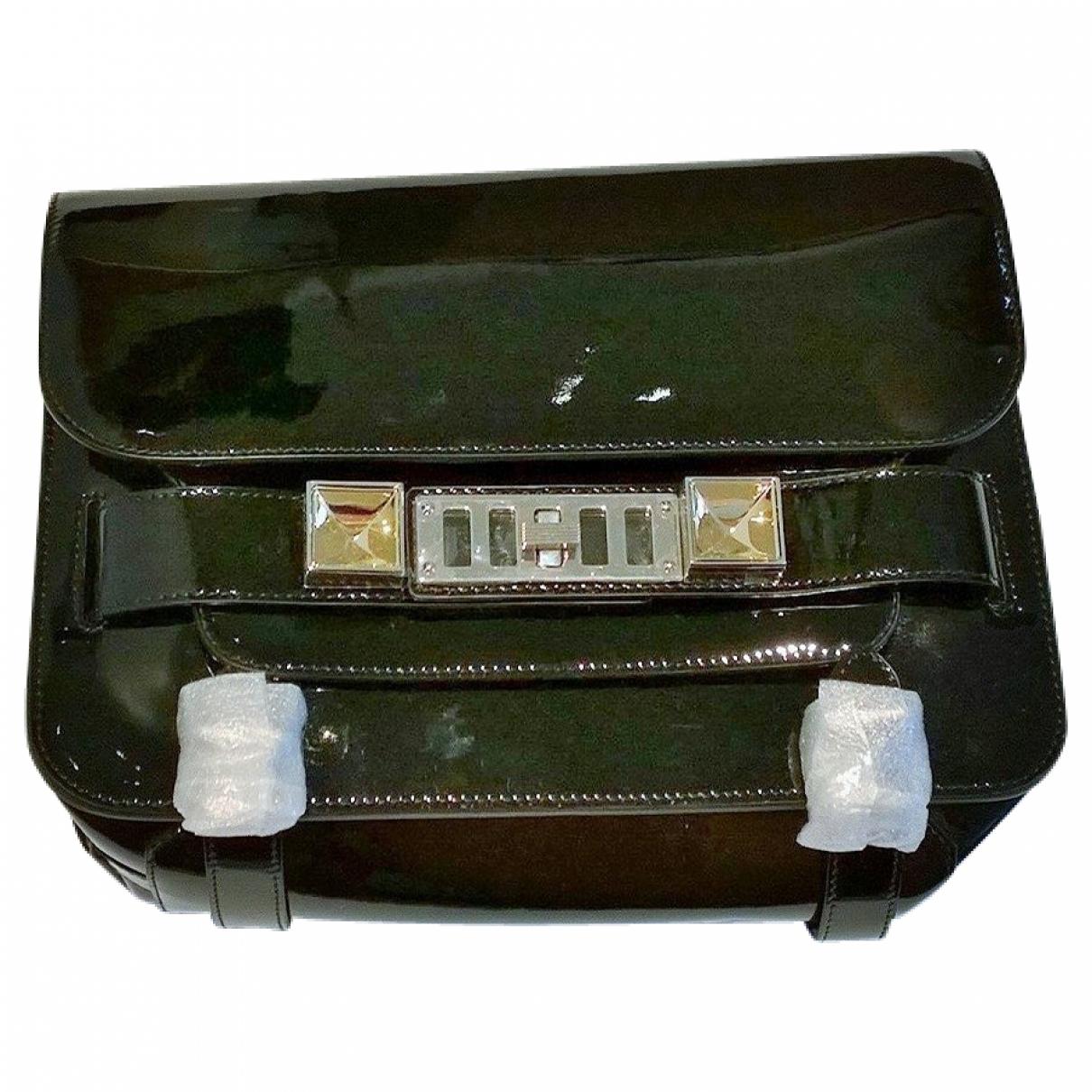 Proenza Schouler PS11 Handtasche in  Schwarz Lackleder
