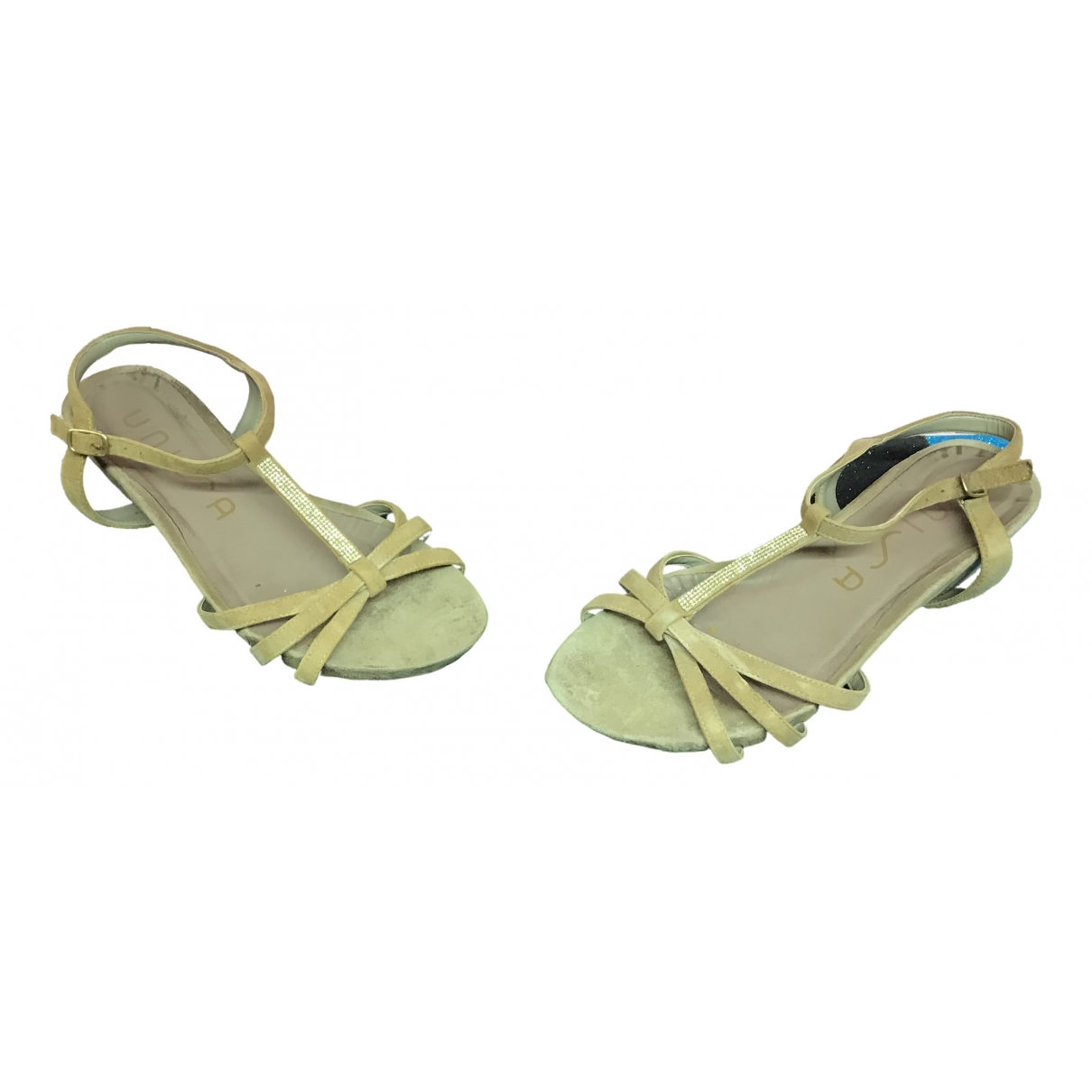 Unisa \N Beige Suede Sandals for Women 37 EU