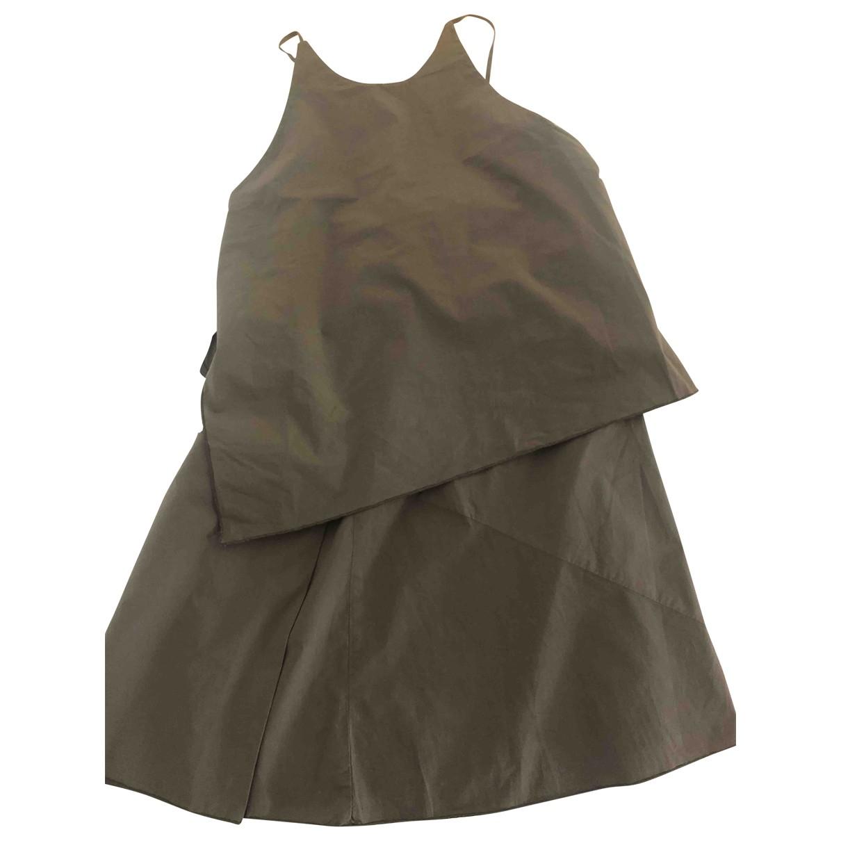 Hache - Top   pour femme en coton - kaki