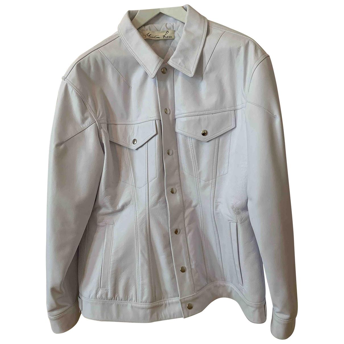 Martine Rose \N White Leather jacket for Women M International