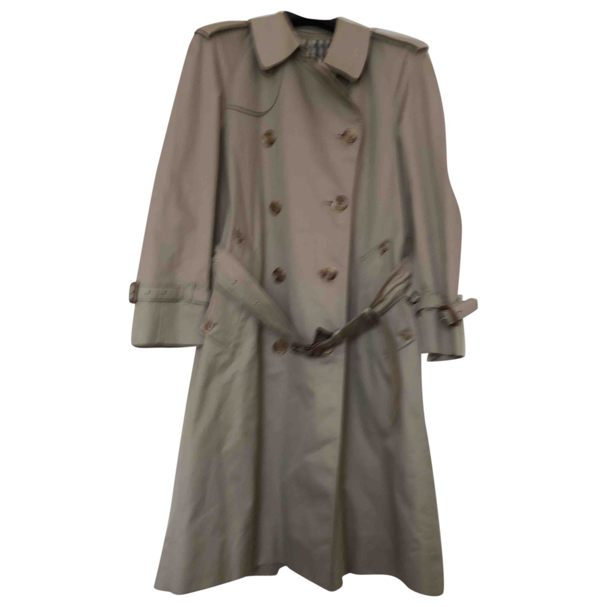 Aquascutum \N Ecru Cotton Trench coat for Women 38 IT
