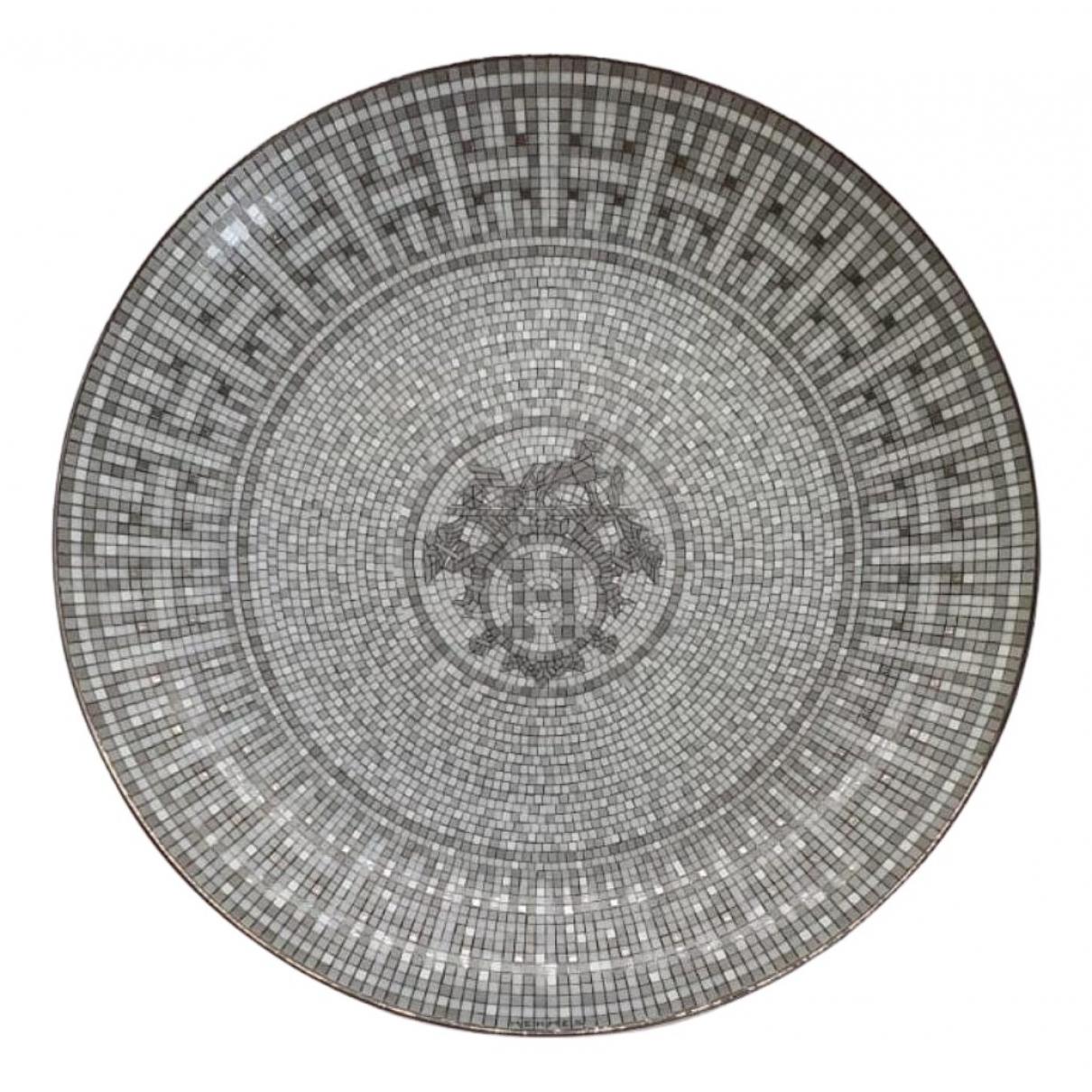 Hermes - Arts de la table Mosaique au 24 pour lifestyle en porcelaine - argente