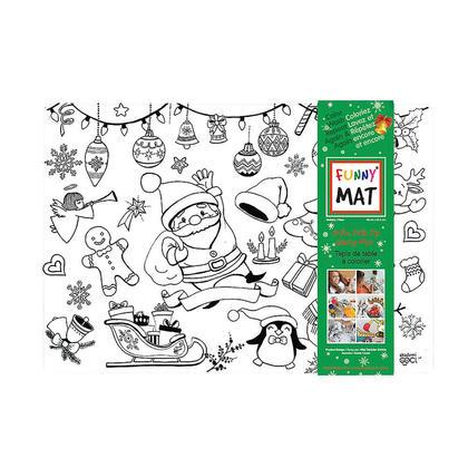 Funny Mat® Tapis à colorier, taille moyenne, lavable et réutilisable - Vacances