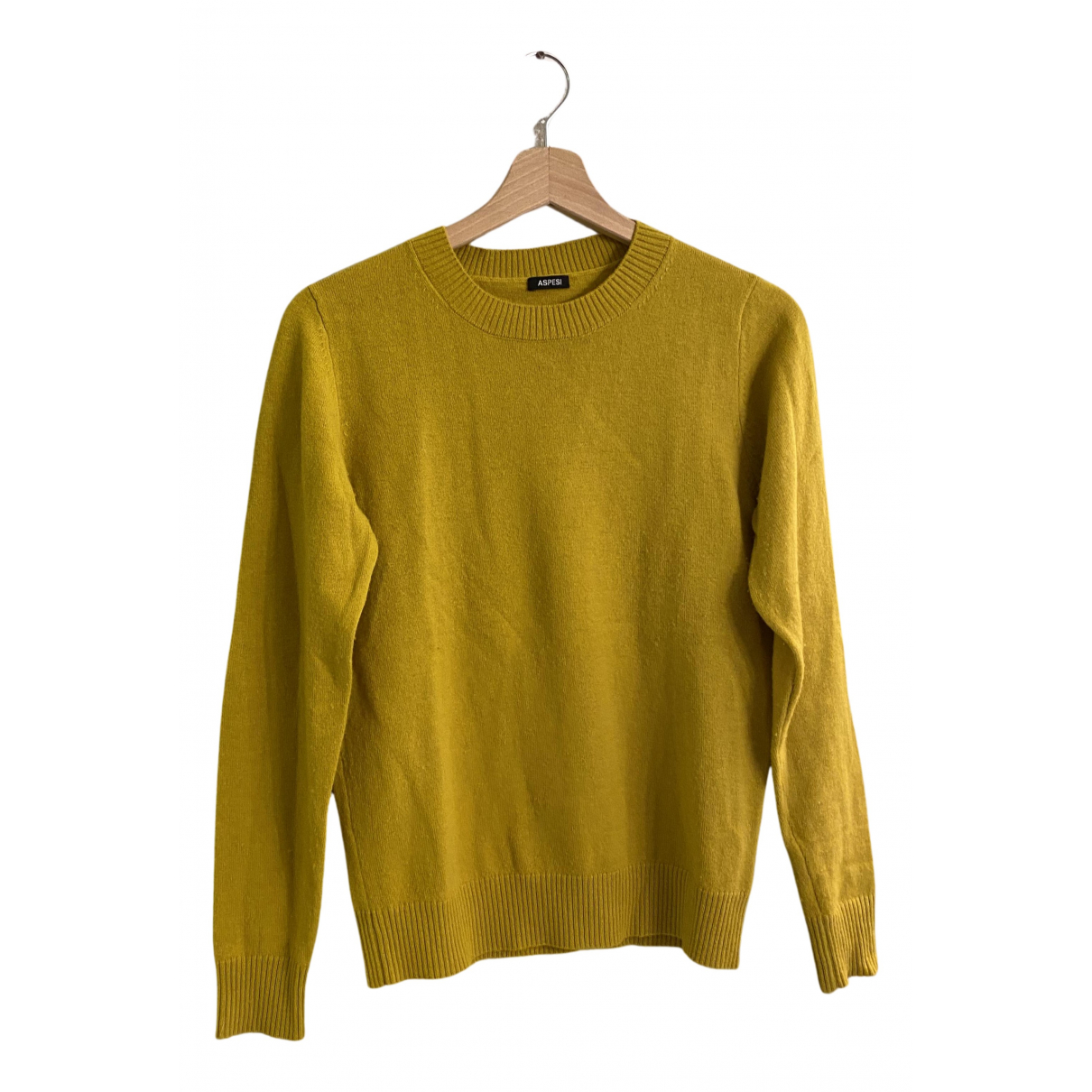 Aspesi - Pull   pour femme en laine - jaune