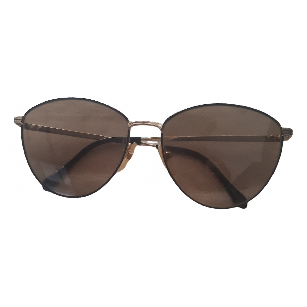 Genny \N Gold Metal Sunglasses for Women \N