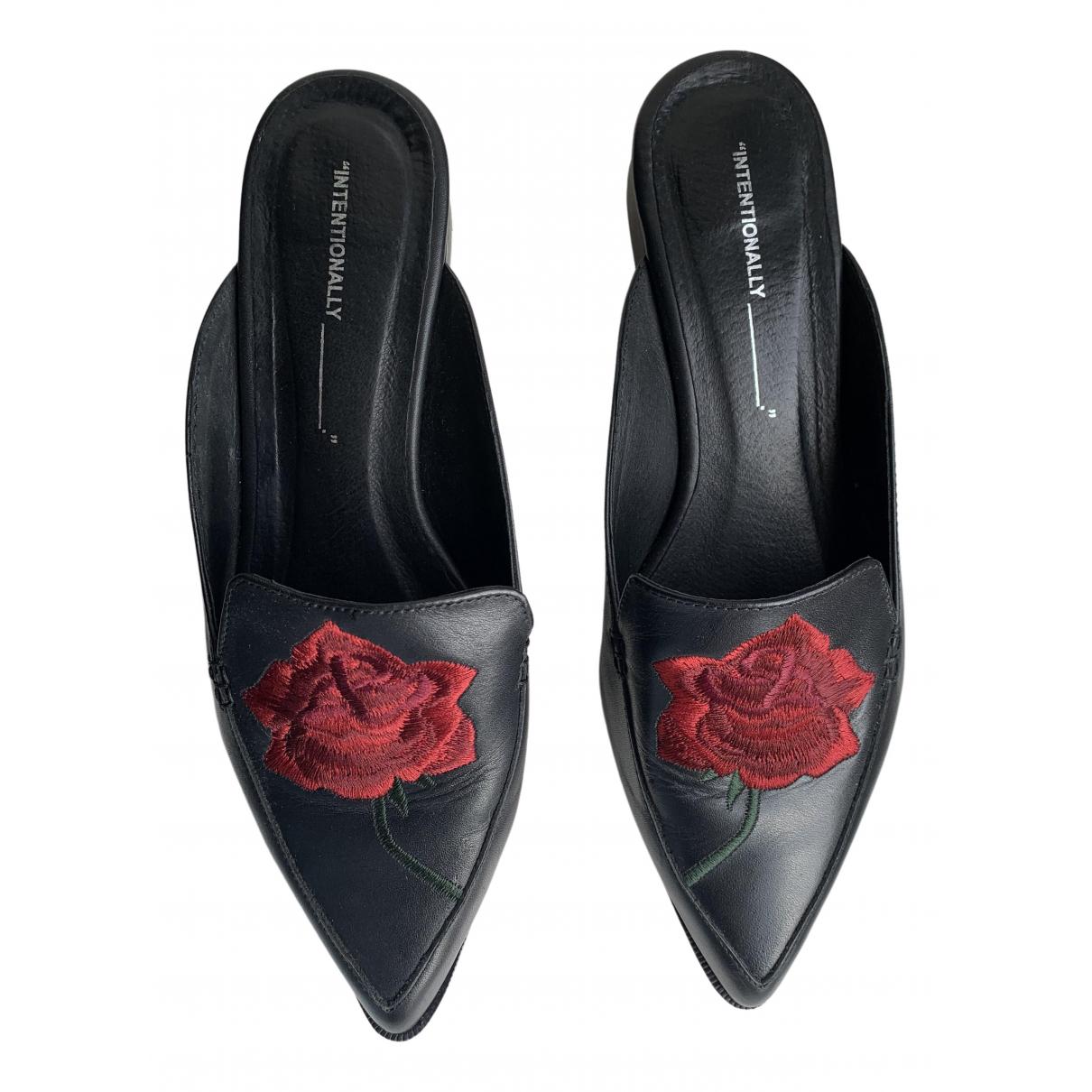 Intentionally Blank - Sandales   pour femme en cuir - noir