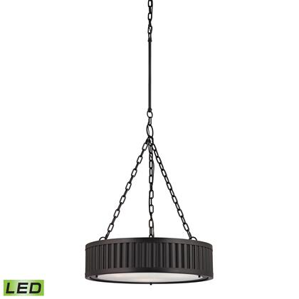 46134/3-LED Linden Collection 3 Light Pendant in Oil Rubbed Bronze -