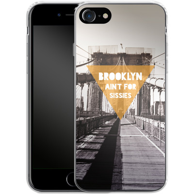 Apple iPhone 8 Silikon Handyhuelle - BKLYN Aint For Sissies von Statements