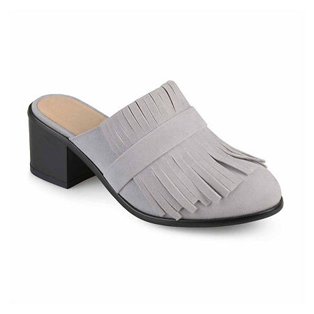 Journee Collection Womens Evelyn Mules, 7 Medium, Gray