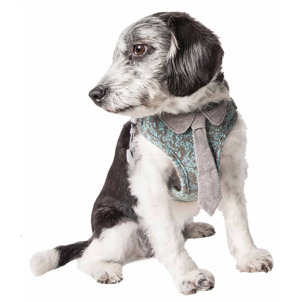 Pet Life  'Fidomite' Mesh Reversible and Breathable Adjustable Dog Harness W/ Designer Neck Tie (small)