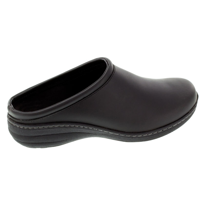 Aetrex Robin Black Oiled Leather Slip-Resistant 39