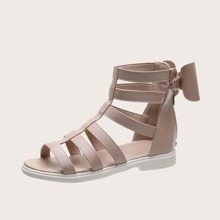 Girls Bow Decor Gladiator Sandals